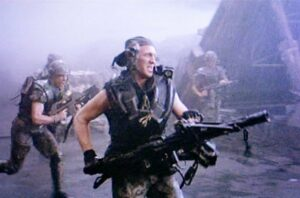 Mark Rolston as one of the Marines in Aliens